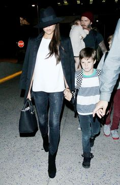 Victoria Beckham in R13 Kate Skinny Jeans in Orion Black