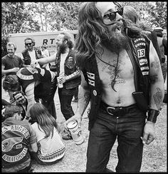 Persuasion and Propaganda can be seen in many aspects of culture. Groups like the hells angels use their image of a biker gang or motorcycle club to assert certain facts. Visual keys like patches represent rank much like the military.