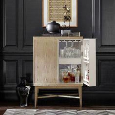 seymour bar cabinet faux shagreen mushroom