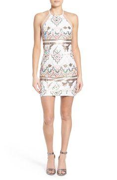 a. drea Sequin High Neck Body-Con Dress
