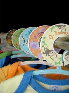 Baby Closet Organizer Clothing Dividers  Safari by potatopatch, $13.50