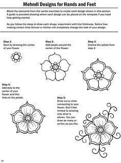 Drawing Tutorial For Beginners Doodles Henna Designs 30 Ideas Mehndi Designs, Mehndi Patterns, Henna Tattoo Designs, Doodle Patterns, Zentangle Patterns, Zentangles, Flower Patterns, Tatoo Henna, Henna Art