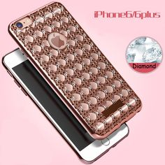 Phone Cases Luxury Bling Diamond Electroplating soft TPU Mobile phone Covers For Apple iphone 6 6s Plus 5 5s SE Back Cover bags | iPhone Covers Online