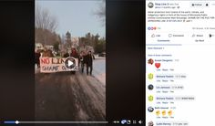 Water protectors host funeral of the earth, climate, and indigenous rights in front of the house of Minnesota Public Utilities Commissioner Matt.