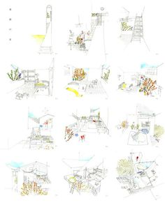 Project Presentation, Presentation Design, Architecture Drawings, Architecture Details, Architect Portfolio Design, People Top View, Architecture Presentation Board, Drawing Sketches, Book Design