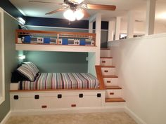 Built in Bunk Beds https://www.facebook.com/carolinacustomizedinteriors?ref=br_tf