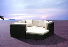 Outdoor Wicker Furniture New All Weather PE Resin Patio Deep Seating Lounge Sectional Sofa Set. - Weather Proof Espresso 7 Pc Wicker Modular Sectional Couch Set provides flexibility with lots of configuration options. Outdoor Wicker Patio Furniture, Outdoor Couch, Garden Furniture Sets, Outdoor Seating, Sofa Furniture, Outdoor Living, Outdoor Ideas, Outdoor Lounge, Outdoor Spaces