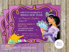 Printable Jasmine Birthday Invitations ~ Princess jasmine invitation princess jasmine birthday invitation