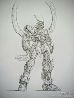 GUNDAM GUY: Awesome Gundam Sketches by VickiDrawing