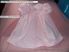 sweet cottage print 12m baby lined dress smocked $65 ring 0427820744
