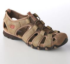 New womens Skechers Bikers Expedition size 8 sandals shoes brown