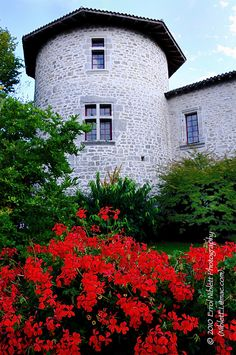 A tower in the Chateau de Mortemart -Limousin, France