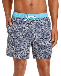 Michael Bastian Banana Leaf Print Swim Shorts