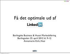 Få det optimale ud af LinkedIn