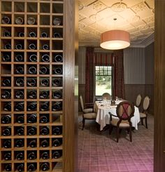 Our wine bar looking onto the corner of the restaurant.  Our comprehensive wine list runs to 40 pages and provides extensive options both geographically and in terms of price.http://www.eriska-hotel.co.uk/Portals/0/Winelist2013.pdf