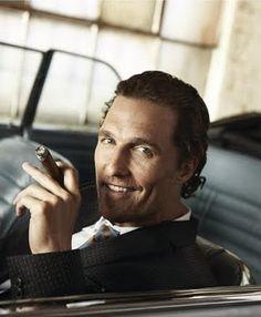 Matthew McConaughey, cigar