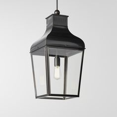 MONTROSE PENDANT-C weathered brass clear glass