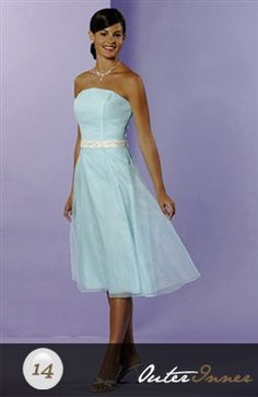 A-line Strapless Bridesmaid Dress With Belt Style Code: 02646