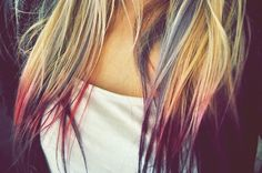 Loved doing this to my hair! (dip dye)