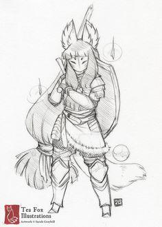 Sketch Request 05 by TeaKitsune.deviantart.com on @DeviantArt