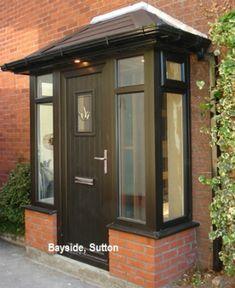 Honest ensured porch design architecture home Front Door Canopy, Front Door Porch, Front Porch Design, Porch Doors Uk, Porch Uk, House With Porch, House Front, Porch Designs Uk, Sas Entree