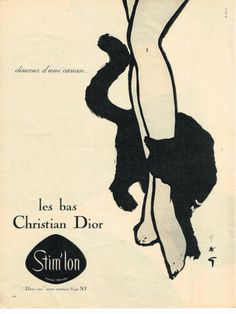 Advertising Christian Dior, 1960 - Rene Gruau