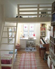 49 stylish loft bedroom design ideas bedroom bedroom loft, g Loft Room, Bedroom Loft, Dream Bedroom, Bedroom Decor, Bedroom Ideas, Bed Ideas, Bedroom Storage, Loft Bed Room Ideas, Warm Bedroom