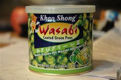 Wasabi Peas In A Can, Not In the Pod