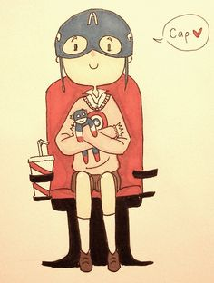 Oh my god it's Agent Phil Coulson when he was little! Awwwwwww! So precious! I loved how he was such a fan of Captain America! It made it all the more sad when he died! T^T