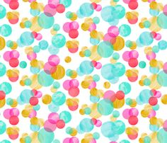 Watercolor Circle fabric by emilysanford on Spoonflower - custom fabric