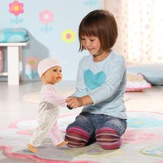 Crawling Baby Annabell Learns to Walk Doll Toys Uk, Buy Toys, Toys Shop, Set Top Box, Kids Toys Online, Zapf Creation, Crawling Baby, Romper Suit, Pink Hat