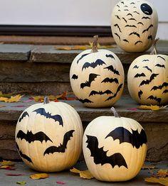 Herbst und Halloween Deko Bastelideen mit Kürbissen