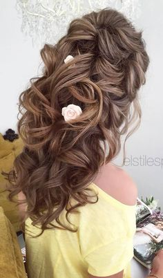 Elstile wedding hairstyles for long hair 41 - Deer Pearl Flowers / www.deerpearlflow... http://www.coniefoxdress.com/