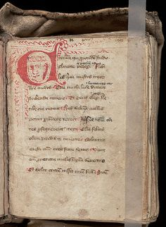 Girdle book by Beinecke Library, via Flickr Ca 15th century
