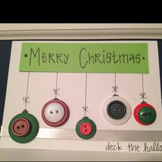 Homemade cards for military spouses! Buttons are cheap and fun!