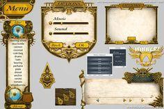 interface game elementos