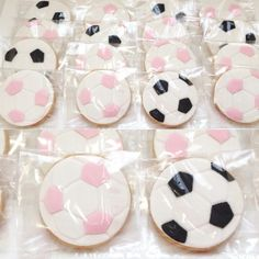 Soccer party cookies for girls and boys Gender Reveal Themes, Gender Reveal Decorations, Baby Gender Reveal Party, Gender Party, Soccer Birthday Cakes, Sports Birthday, Birthday Party Themes, Soccer Baby, Soccer Theme
