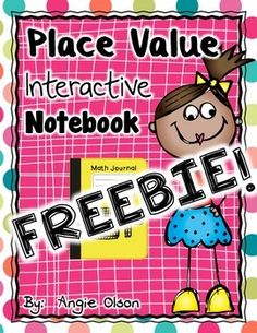 """Place Value Interactive Notebook FREEBIE ......Follow for Free """"too-neat-not-to-keep"""" teaching tools & other fun stuff :)"""