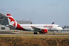 https://flic.kr/p/nE6Ssw | Air Canada Rouge, Airbus A319 | LAX May 17, 2014