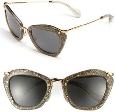 5939e8557aa2 Miu Miu Glitter Infused 55mm Cat Eye Sunglasses on shopstyle.com Ray Ban  Sunglasses Outlet