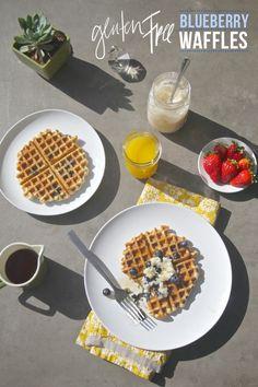 Gluten Free Blueberry Waffles - shutterbean