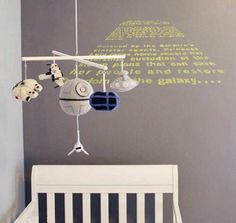 Star Wars Baby Nursery... Omg! I could see this in my brother's kids room.