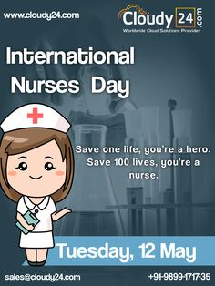 """""""A nurse 👩⚕️ will always give us hope, an angel with a stethoscope. Nurses Day, Stethoscope, One Life, Wordpress, Angel, Clouds, Events, India, How To Plan"""