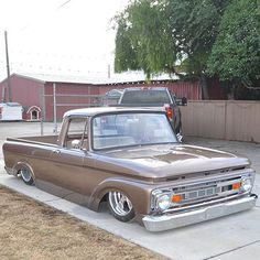 GASs.cans Beautiful unibody Ford F100 from @jeffstamps  #gasscans #ford #f100 #unibody #classictruck #slammed #bagged