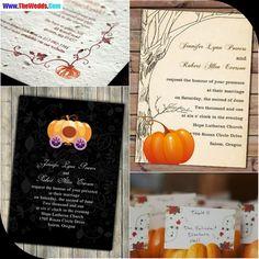 halloween wedding invitations pumpkins