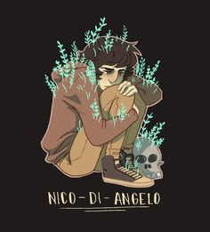 'Nico di Angelo' Sticker by cottonproject Percy Jackson Fandom, Percy Jackson Characters, Percy Jackson Books, Will Solace, Percy Jackson Personajes, Son Of Hades, Oncle Rick, Solangelo, Percabeth