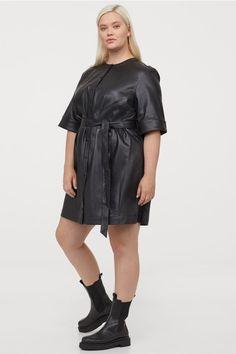 Women Plus Size Dresses, Plus Size Outfits, Short Dresses, Faux Leather Dress, Leather Dresses, Plus Size Womens Clothing, Plus Size Fashion, Size Clothing, Plus Size Fall Outfit