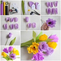 55 best crepe fabric and ribbon flower crafts images on pinterest how to make beautiful crepe paper flowers mightylinksfo