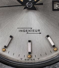 This @iwcwatches Ingénieur 666AD was a barnyard find from across the pond. The plexiglass was so scratched that it completely hid the dial beneath.A bit of elbow-grease and this sunburst beauty was revealed. The typography of INGENIEUR is just incredible. Zoom in!