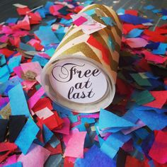 Divorce Party Confetti Pop   Free At Last by Confettigram on Etsy, $5.00